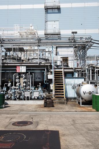 硫酸処理設備